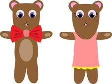 Free Teddy Bear Couple Stock Image - 29469921