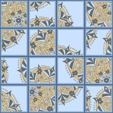 Free Seamless Tiles With Hand Drawn Ornament Stock Images - 29470944