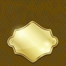 Free Golden Label Over Leather Stock Image - 29471111