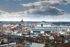 Free Madrid City Skyline After The Strom Stock Photos - 29473513