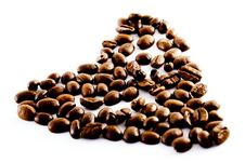Heart Of Coffee Beans Royalty Free Stock Photo