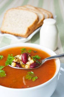 Free Bowl Of Minestrone Soup Stock Image - 29475571