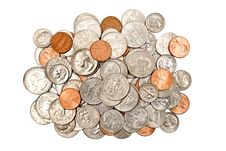 Free Pile Of Shiny Coins XXXL Isolated Stock Photo - 29480150