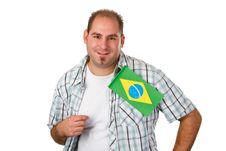 Free Brasilian Fan Royalty Free Stock Photography - 29484187