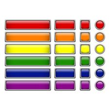 Free 6 Colors Buttons Royalty Free Stock Image - 29489976