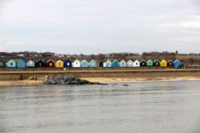 Southwold Beach Huts Royalty Free Stock Image
