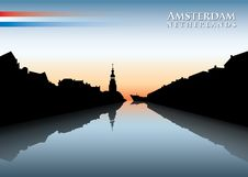 Free Amsterdam Skyline Royalty Free Stock Photography - 29491377
