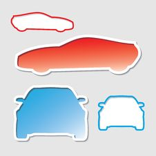Car Stickers Stock Image