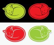 Free Cat Stickers Royalty Free Stock Image - 29491416