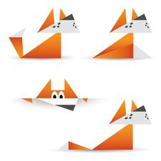 Free Origami Foxes Royalty Free Stock Photos - 29491448