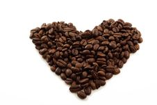Free Heart Of Coffee Beans Stock Photos - 29492793