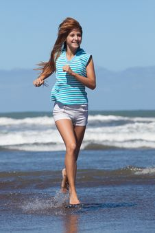 Free Running Girl Stock Images - 29494124