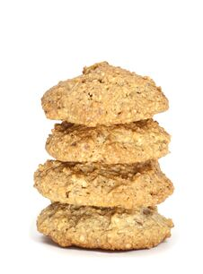A Stack Of Freshly Baked Biscuit Royalty Free Stock Image
