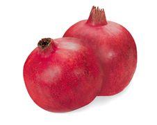 Free Pomegranate Fruits Closeup Isolated On White Background Royalty Free Stock Images - 29495479
