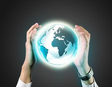 Free Business Man Holding A Earth Globe Stock Photo - 29499140