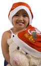 Free Girl And Xmas Bear Stock Photo - 2952230