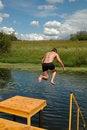Free Jumping Boy Stock Image - 2958491