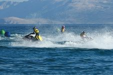 Free Three Men On Jet Ski Royalty Free Stock Photo - 2950035