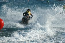Free Man On A Jet Ski Royalty Free Stock Photography - 2950067