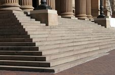 Free Columns And Stairs Royalty Free Stock Photography - 2950907