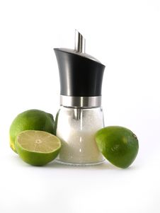Free Two Halves Of Green Lime And S Stock Image - 2951361