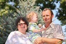 Free Seniors With Little Girl Stock Photos - 2951873