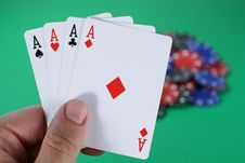 Free All Aces Stock Photography - 2952132
