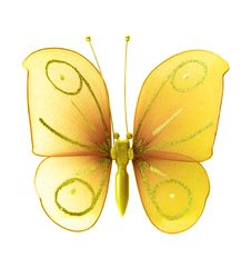 Free Artificial Yellow Butterfly Royalty Free Stock Image - 2952556