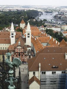 Aerial View - Praha Royalty Free Stock Photos