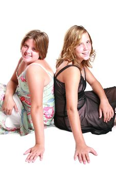 Free Two Girl Teens Royalty Free Stock Photo - 2953205