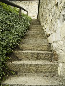 Free Small Old Stone Stairs Royalty Free Stock Photography - 2953287