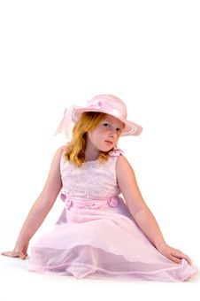 Free Girl In A Pink Dress Stock Photography - 2953902