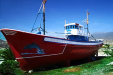 Free Red Boat Royalty Free Stock Photo - 2954105