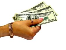Free Dollars In Woman S Hand Stock Photography - 2954182