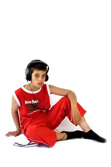 Free Young Boy Wearing Headset Stock Photos - 2954613