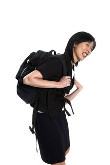 Free Carrying Back-pack Royalty Free Stock Image - 2955376