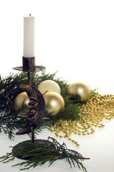 Free Christmas Candle Royalty Free Stock Images - 2955799
