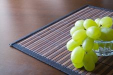 Grape On A Napkin Stock Image