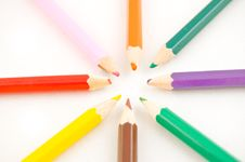 Colorfull Pencils Stock Photo