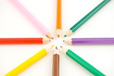Colourfull Pencils Royalty Free Stock Photos
