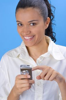Free Girl With Phone Royalty Free Stock Photography - 2958837