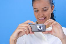 Free Girl With Phone Royalty Free Stock Photography - 2958867