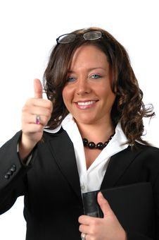 Free Businesswoman With Binder Royalty Free Stock Photography - 2959547