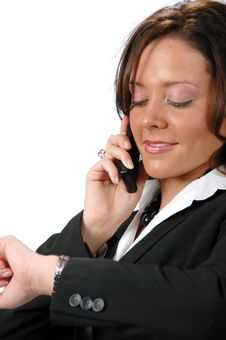 Free Businesswoman On The Cell Phon Royalty Free Stock Photos - 2959568