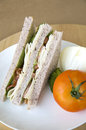 Free Sandwich On White Plate Royalty Free Stock Photo - 29501445