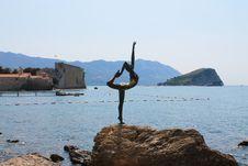 Statue In The Coast Of Budva Stock Photo