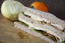 Homemade Sandwich Royalty Free Stock Photo