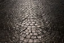 Free Light Is Reflected Back Cobblestone Stock Images - 29501944