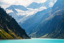 Free Autumn Austrian Alps Mountain Lake Royalty Free Stock Photography - 29502007