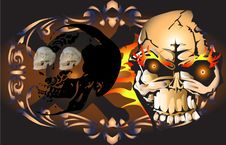 Art Skull Pattern Tattoo Stock Photos
